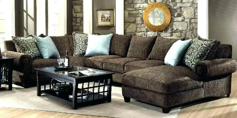 Brown Sectional Sofa With Chaise Impressive Rustic Leather Sectional