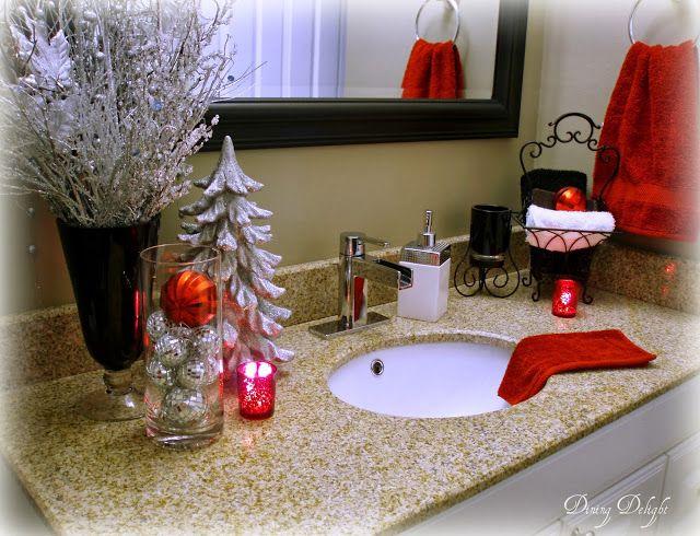 Top 35 Christmas Bathroom Decorations Ideas | Home decor | Christmas