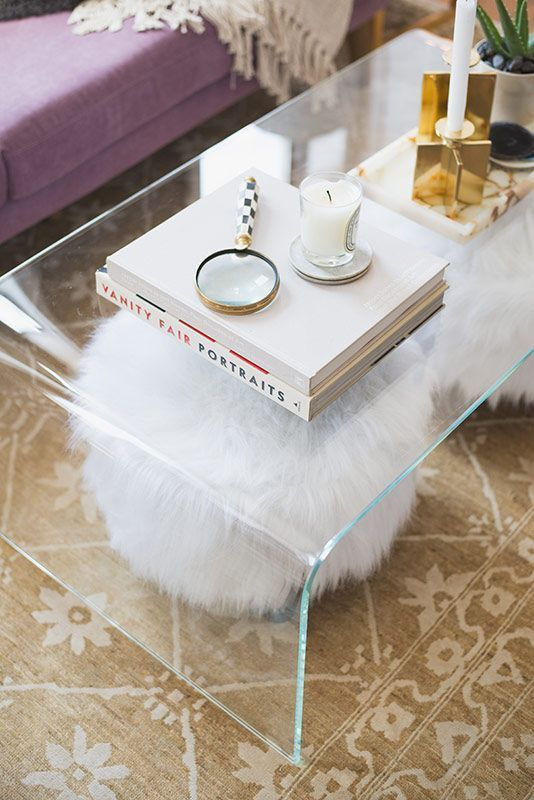Modrest Newark Coffee Table | living room | Home Decor, Clear coffee