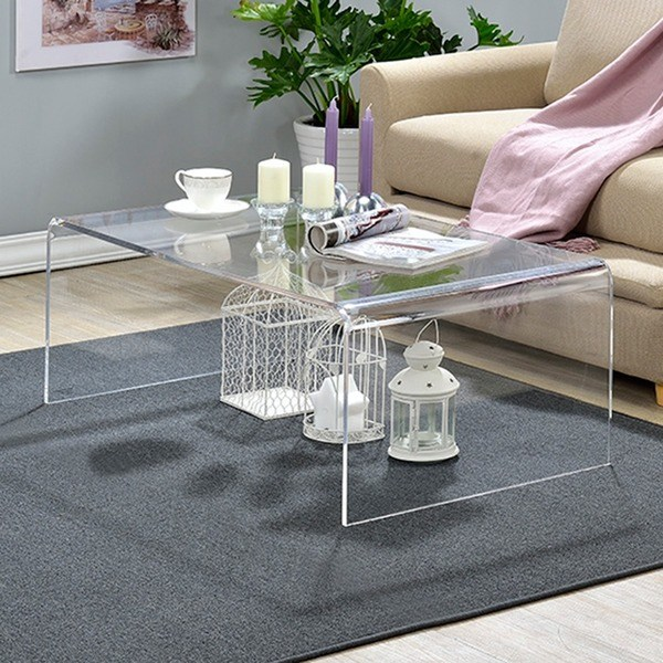 Shop Clear Acrylic Coffee Table - Free Shipping Today - Overstock