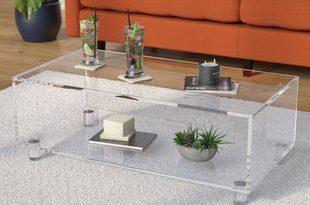 Acrylic Glass-Top Coffee Tables You'll Love | Wayfair