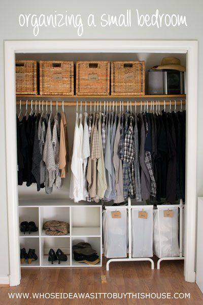 How We Organized Our Small Bedroom | Get Organized | Pinterest