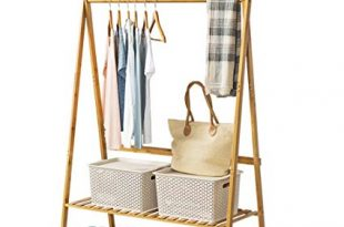 Amazon.com: COPREE Bamboo Garment Coat Clothes Hanging Heavy Duty