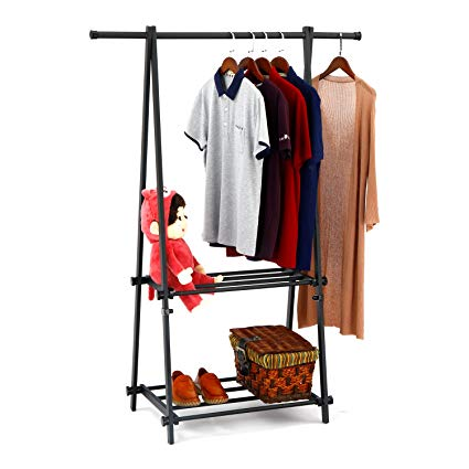 Amazon.com: SUNPACE LCH Metal Foldable Entryway Organizer Clothing