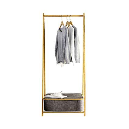 Amazon.com: HONGNA Clothing Storage Rack Home Folding Rack Bamboo