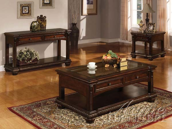 Cherry Finish 3pc Coffee / End Table Set Item #: A10322 - Coffee/End