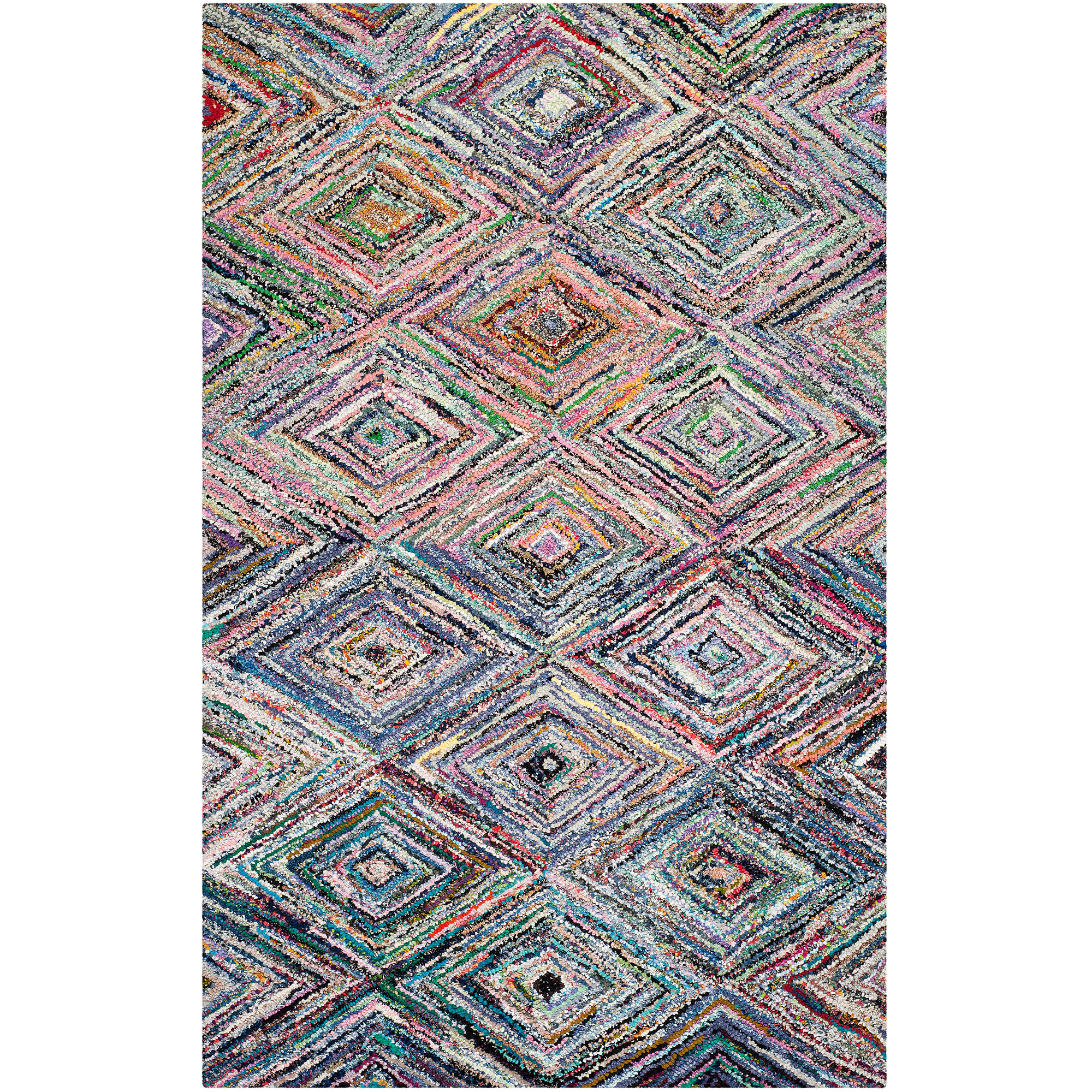 Safavieh Nantucket Aimee Hand Tufted Cotton Area Rug, Multi-Colored