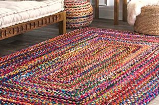 Amazon.com: nuLOOM Hand Braided Bohemian Colorful Cotton Area Rug
