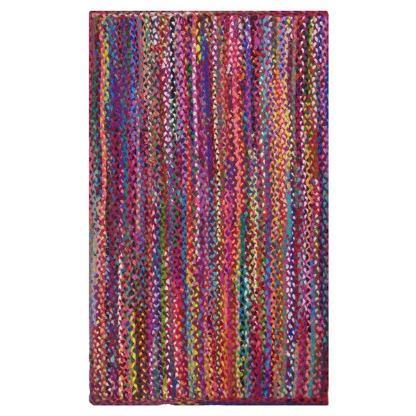 Shop Celebration Multi-colored Cotton Braided Chindi Area Rug