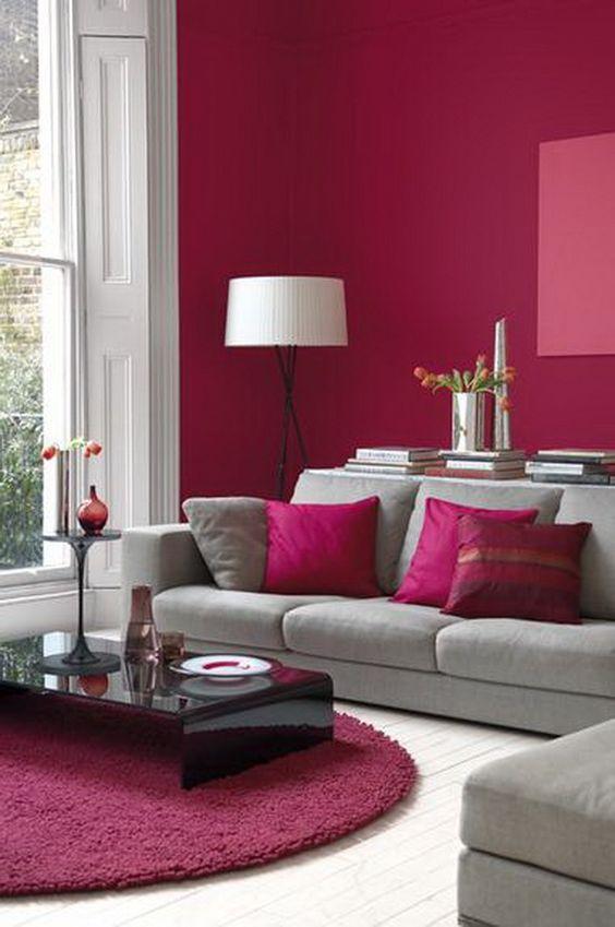 30 Elegant Living Room Colour Schemes | Living Room Home Decor | Red
