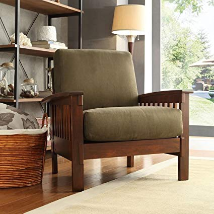 Amazon.com: TRIBECCA HOME Hills Modern Mission-Style Oak Upholstered