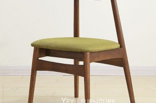 Minimalist Modern Design Solid Wooden Padded Dining Chair, Fashion