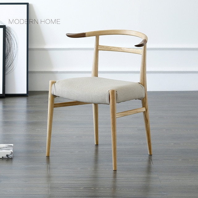 Popular Modern Design Solid Wooden Padded Dining Chair, Fashion