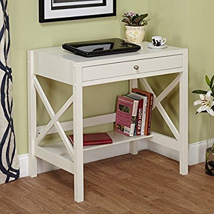 Amazon.com: Perfect Trestle Desk White Is a Small Corner Computer