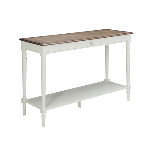 Convenience Concepts French Country Console Table With Drawer And