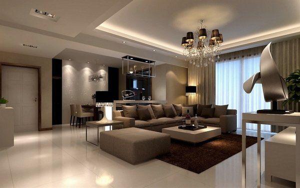 brown beige living room ideas modern furniture sandstone floor tiles