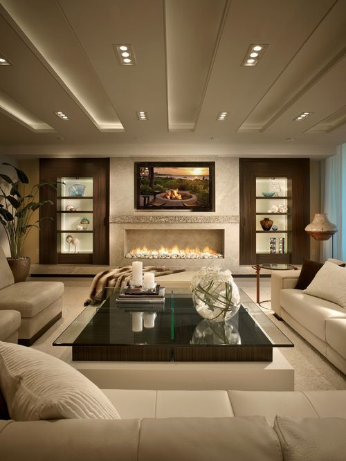 Contemporary Brown Living Room Ideas