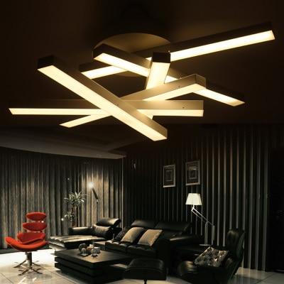 Contemporary LED Ceiling Lamp Bedroom Acrylic Lamp Shade Irregular