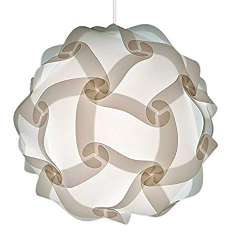 Modern Contemporary White Round Designer Lamp Shade, Scandinavian
