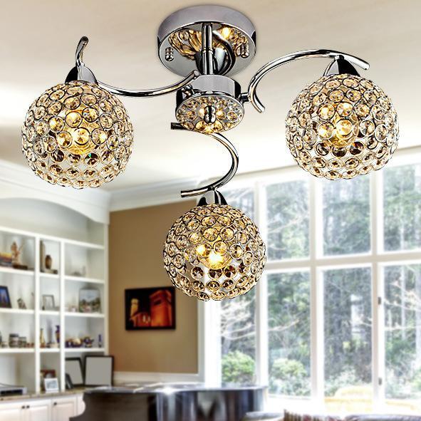 K9 Crystal Pendant Lamp Lustres De Sala E14 Abajur Living Room