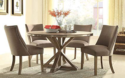 Amazon.com - Industrial Contemporary Dining Table Set in Weathered