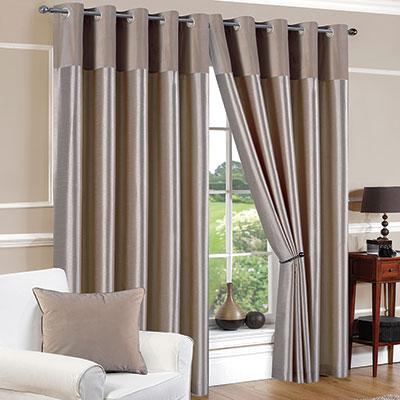 Faux Silk Mink Eyelet Curtains | Chiltern Mills