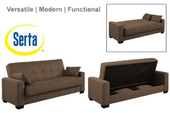 Napa Contemporary Sleeper Futon Bed | Brown Sleeper Sofa | The Futon