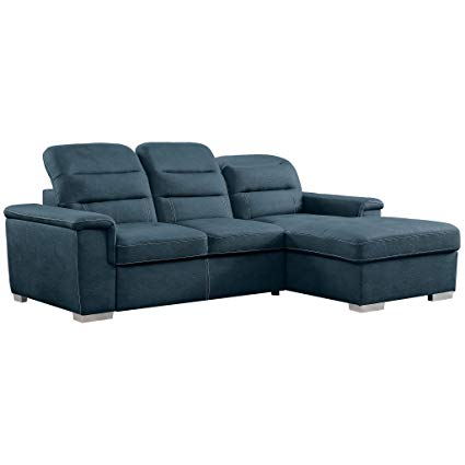 Amazon.com: Homelegance 9808 Sleeper Sectional Sofa with Storage