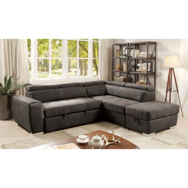 Shop Furniture of America Henley Contemporary Upholstered Storage