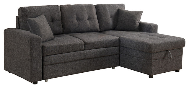 Contemporary Fold Out Couch With Storage