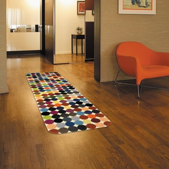 Add colors to your homes with colorful contemporary hall runners