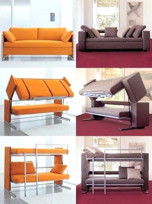 Sofa Bunk Bed Out Of The Ordinary Convertible Beds For Small Spaces