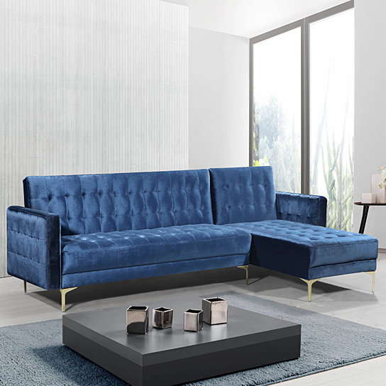 Buy Gerwyn Right Facing Convertible Sectional Sofa Velvet