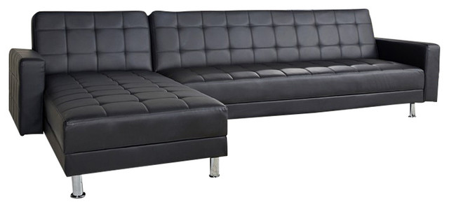 Frankfort Convertible Sectional Sofa Bed - Contemporary - Futons