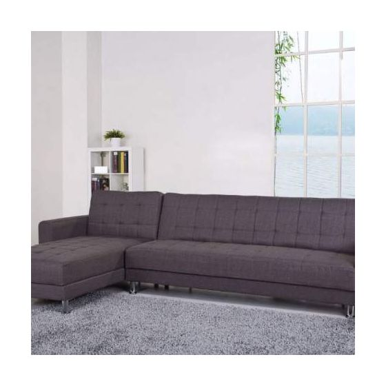 Frankfort Convertible Sectional Sofa Bed in Gray - Sectionals