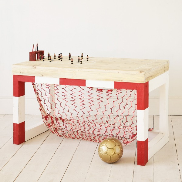 And when all the friends leave, your child will be able to do homework  without being distracted. Also this desk is entirely handmade out of  reclaimed wood,