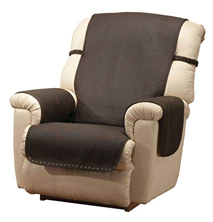Amazon.com: Leather Look Recliner Chair Cover: Kitchen & Dining