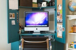 Jordan's Tucked in a Corner Hideaway Armoire Home Office | For the