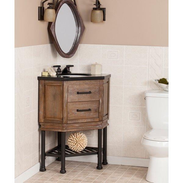 Shop Harper Blvd Ballard Granite Top Corner Bath Vanity Sink - Free