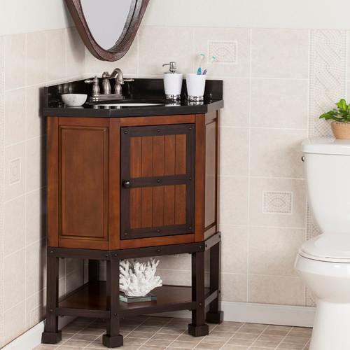 Williston Forge Clarksburg 34'' Single Corner Bath Vanity Set