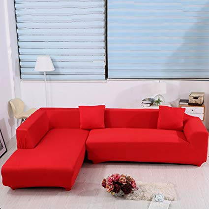Amazon.com: cjc L Shape Sofa Covers, 2pcs Polyester Fabric Stretch