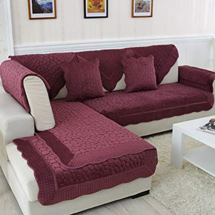 Amazon.com: Reversible Sectional sofa throw cover pad Sofa furniture