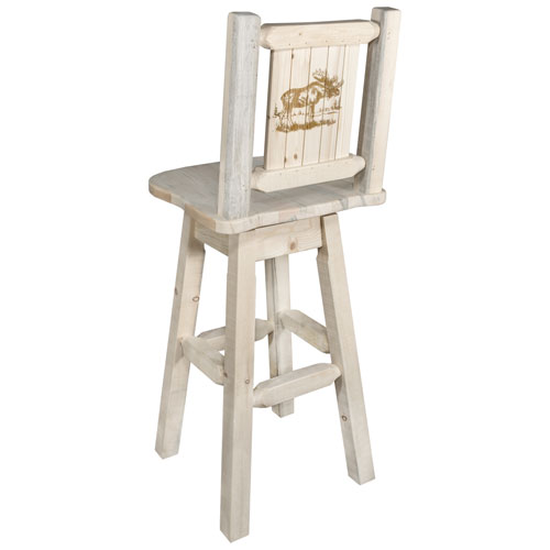 Montana Woodworks Homestead Counter Height Barstool With Back And