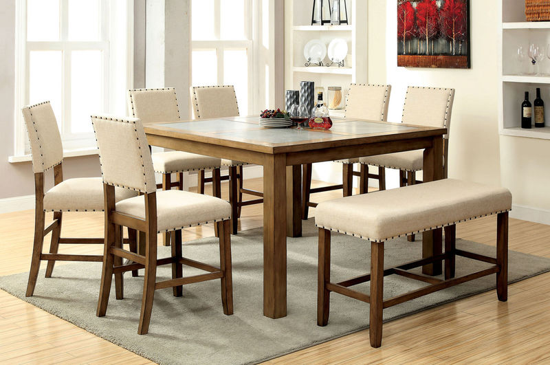 Furniture of America | CM3531PT Melston Counter Height Dining Room