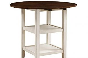 Amazon.com: Homelegance Kiwi Counter Height Drop Leaf Table, White