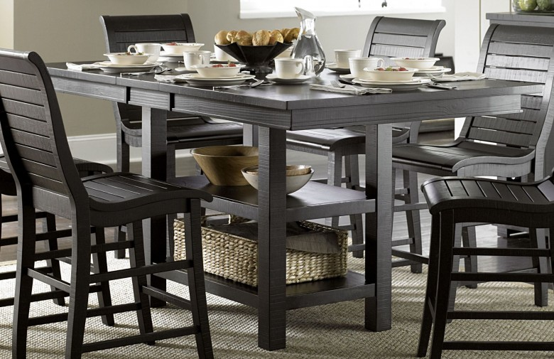 Counter Height Rectangular Table Sets Daze Distressed And Chairs