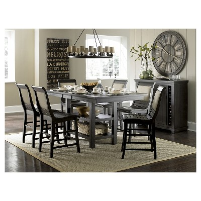 Willow Rectangular Counter Height Dining Table - Distressed Black