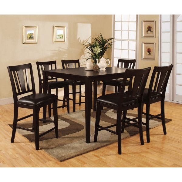 Shop Bension Espresso 7-piece Counter-height Dining Set - Free