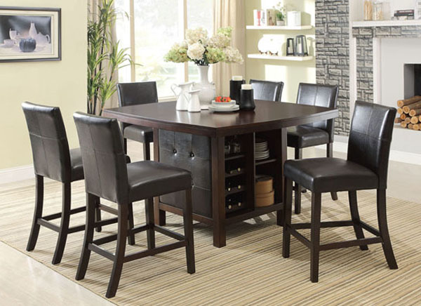 Distona Espresso Counter Height Dining Table Set