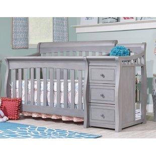 Gray Crib And Changing Table | Wayfair